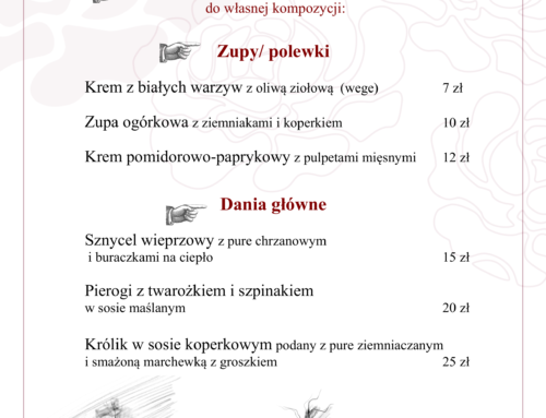 Menu Lunch 12-18 kwietnia