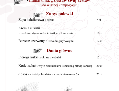 Menu Lunch 3-9 maja